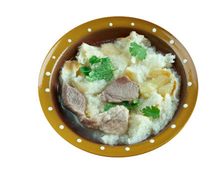 asian flavors: Yangrou Paomo  - bread soaked in lamb soup; simplified Chines
