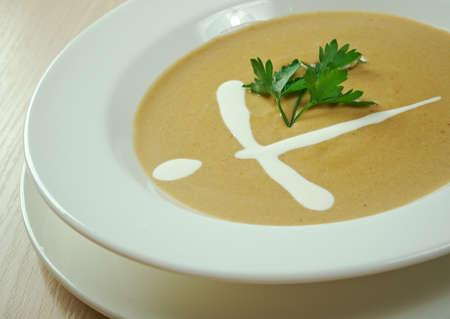pureed: Fresh, organic pureed vegetables soup