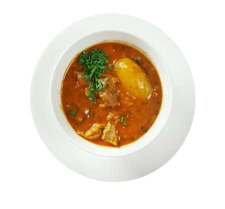 iranian: Bozbash - Iranian, Azerbaijan  mutton soup Stock Photo