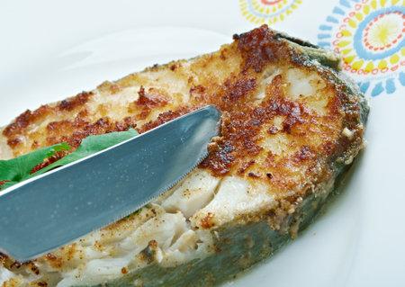 south african: South African Fish -  Pan fried garlic Kingklip