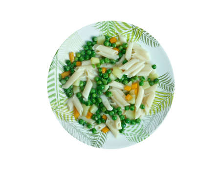 di: Minestra di patate e pasta.Italian  soup Stock Photo