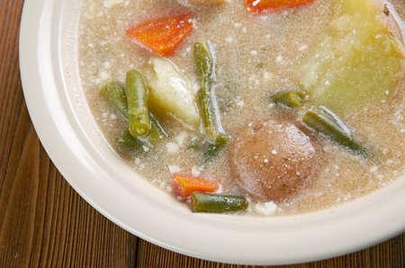 nova scotia: Nova Scotia Hodge Podge - soup made of a mixture of various ingredients.
