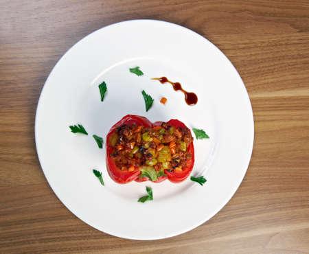 stuffed: Stuffed peppers Stock Photo