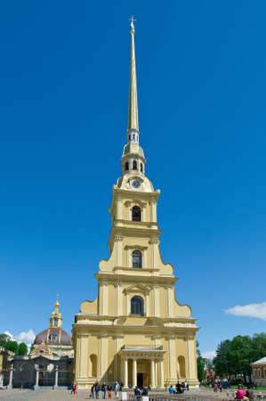 saints peter and paul: Saint-Petersburg, Peter and Paul Cathedral .Saints Peter and Paul fortress .Russia.June 4, 2015 Stock Photo
