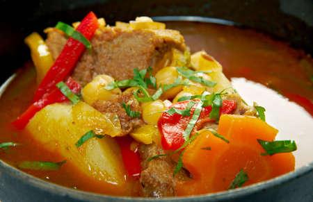 mutton: Bozbash - Iranian, Azerbaijan mutton soup Stock Photo