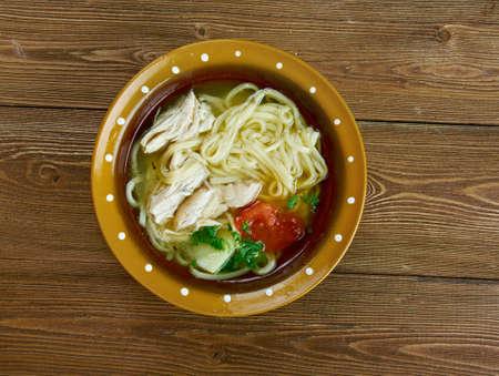noodles soup: ugra-osh -Uzbek chicken noodles soup