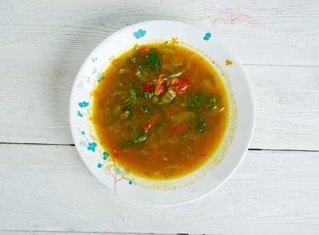 ema: Ema Datsi -dishes in Bhutanese cuisine,made from chili peppers and cheese Stock Photo