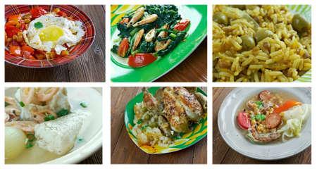 siete: Food set . southern food.Latin American cuisine