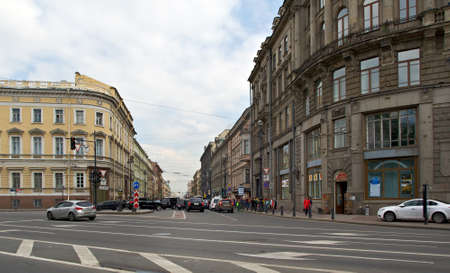 nevsky prospect: Nevsky Prospect .Saint-Petersburg, Russia.June 2, 2015