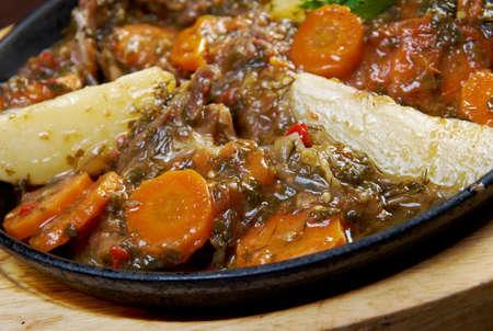 the lamb: kchuch - lamb stew with potatoes.Armenian cuisine
