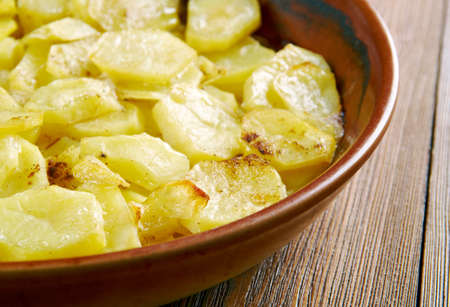 Gratin dauphinois - traditional regional French dish.