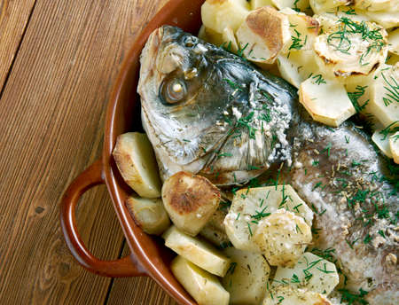 cypriot: Psari sto fourno.baked fish. Cypriot cuisine