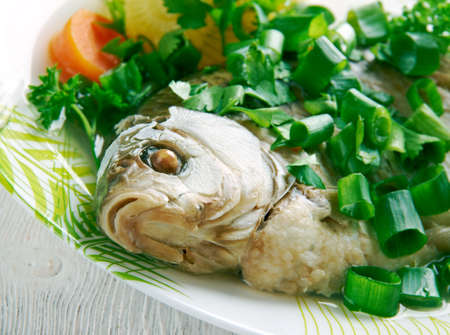 fish head: Fish head casserole -  seafood dish from China.