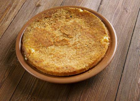 especially: Potato babka - savoury dish, popular especially in Poland. made from grated potatoes, eggs, onions