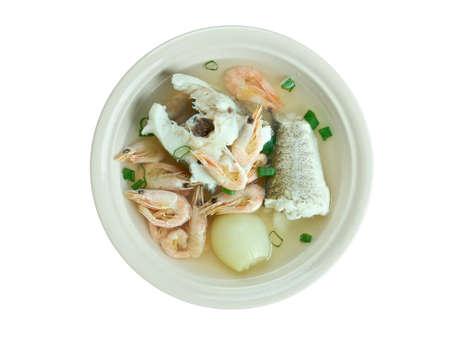 siete: Caldo de siete mares - Mexican version of fish stew Stock Photo