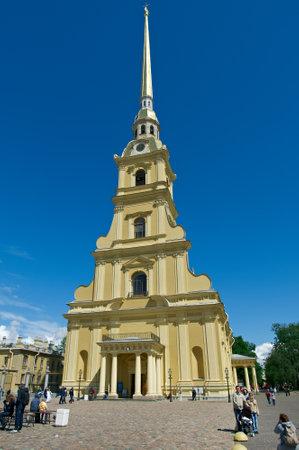 saints peter and paul: Saint-Petersburg, Peter and Paul Cathedral .Saints Peter and Paul fortress .Russia.June 4, 2015 Editorial