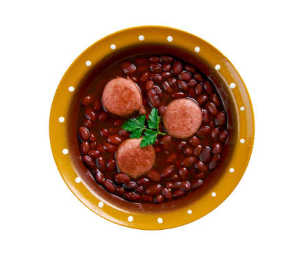 sacraments: Caparrones -  Spanish stew made of caparrón, a variety of red kidney bean, and a spicy sausage chorizo