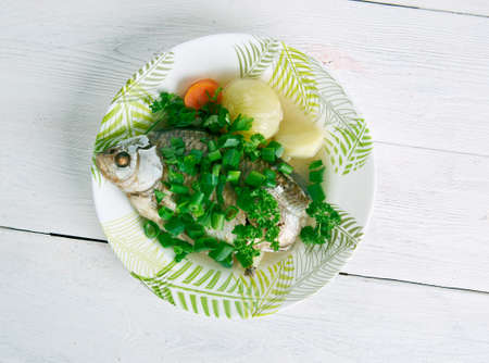 entree: Fish head casserole -  seafood dish from China.