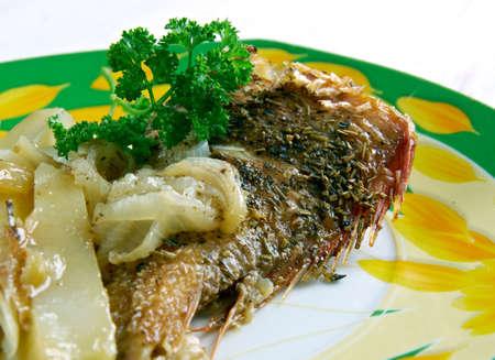 flavorsome: Pescado frito - fried fish  in Spanish.