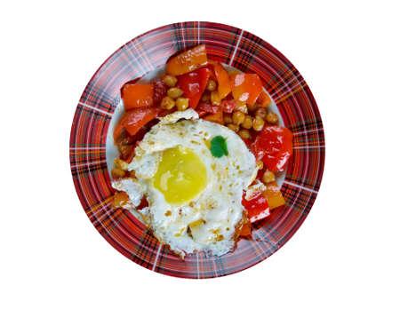 cazuela: cazuelita de garbanzos - Colombian dishes especially from South America Cazuela
