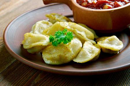 st  basil: Toasted ravioli -  breaded deep-fried ravioli.Italian-American cuisine