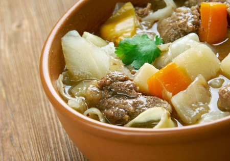 celeriac: Garbure -  thick French soup .French cuisine Stock Photo