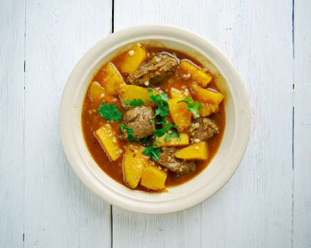 squash: Beef and Butternut Squash Stew,French cuisine Stock Photo
