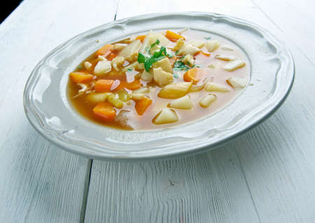 chowder: Bahamian Red Conch Chowder .Caribbean cuisine Stock Photo