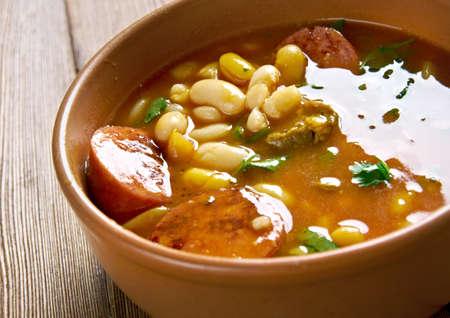 kuru: Sucuklu kuru fasulye - Beans with Sudzhuk Stock Photo