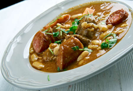 cantabria: Cocido Montanes -   hearty bean stew originally  of Cantabria in northern Spain.