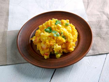 Irio - Mashed Potatoes with Veggies. of East Africa.dish found in Kenya, Tanzania, and Uganda. Фото со стока