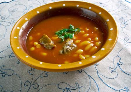 guernsey: Guernsey Bean Jar, cassoulet-type bean dish Stock Photo