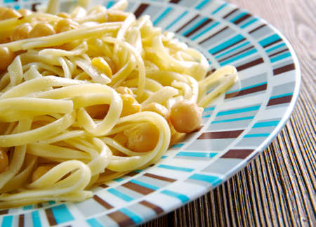 italian cuisine: Ciceri e Tria, pasta dish and chickpeas in Italian cuisine