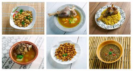 oriental cuisine: Food set oriental cuisine. collage Stock Photo