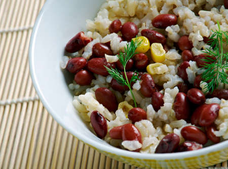 bap: Kongbap - Korean dish consisting of or brown rice cooked with beans