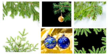 frozenned: set over Christmas background Stock Photo