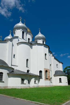 veliky: Saint Sophias Cathedral . Veliky Novgorod. Russia Stock Photo