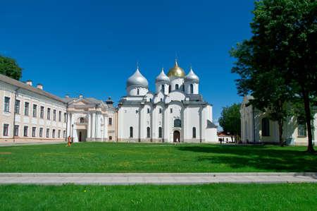 novgorod: Saint Sophias Cathedral . Veliky Novgorod. Russia Stock Photo