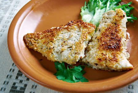 south pacific: Coconut Crusted Fish - fried fish in coconut flakes. the island of Nauru, South Pacific