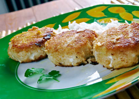 north america: Bajan Sweet Potato Fish Cakes.Barbados, North America