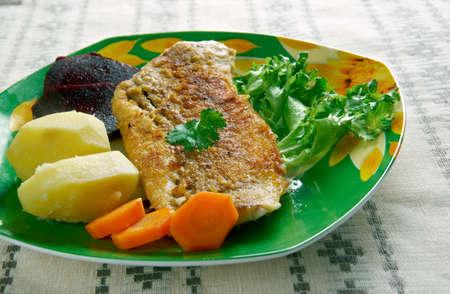 sole: Gebakken sliptong  - Fried fish Common sole.  Dutch cuisine