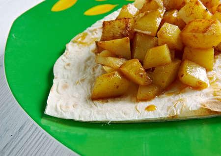 costa rican: Gallitos de Papa - Costa Rican Potatoes.South America