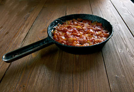lima bean: Balkan Baked Beans  - Prebranac. Bosnia pot Stock Photo