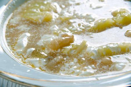 sou: Slovak Sour Bean Soup close up