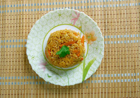 primarily: Khushka Rice - rice dish of primarily South Asian origin made with spices, rice Stock Photo
