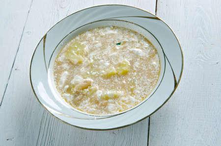 Slovak Sour Bean Soup close up