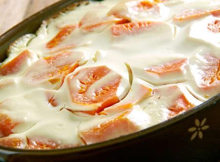 creamy: Creamy Carrot Casserole . close up Stock Photo