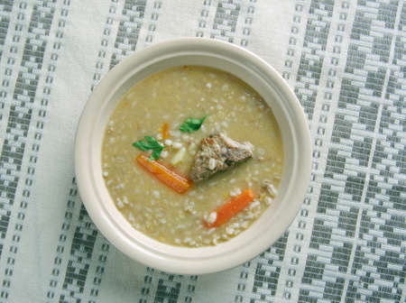 healthy economy: Rumford Soup - peas, barley soup.common base for inexpensive military rations in Central Europe.