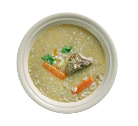 inexpensive: Rumford Soup - peas, barley soup.common base for inexpensive military rations in Central Europe.