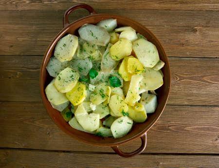 balkan: Potato Musaka - dish popular in Balkan and Mediterranean